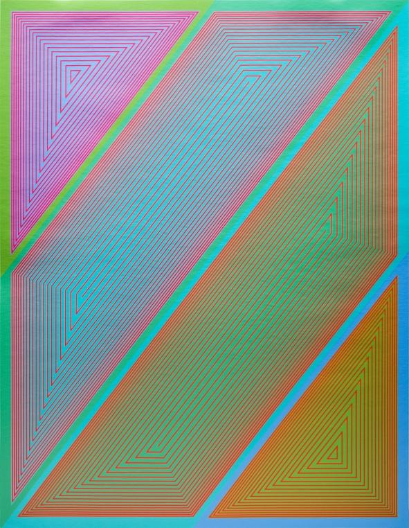 "Richard Anuszkiewicz, ""Inward Eye #2,"" from the portfolio Inward Eye, 1970, serigraph. Courtesy of Swope Art Museum © Richard Anuszkiewicz/Licensed by VAGA, New York/NY VAGA,"